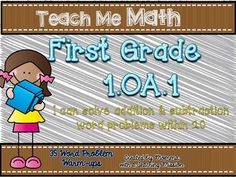 """1.OA.1  Word Problem Warm-ups 35  Common Core standard 1.OA.1 states students """"Use addition and subtraction within 20 to solve word problems involving situations of adding to, taking from, putting together, taking apart, and comparing with unknowns in all positions, e.g., by using objects, drawings, and equations with a symbol for the unknown number to represent the problem.""""   This pack includes: *35 word problems that can be used as warm-ups  You can find the bundle here at a discounted…"""