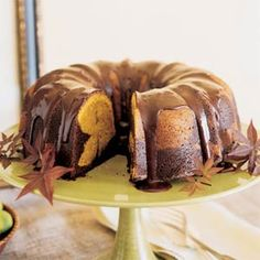 pumpkin chocolate pound cake