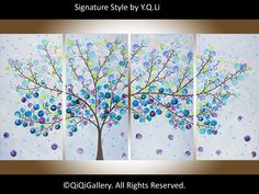 Art painting Acrylic painting Abstract Landscape by QiQiGallery