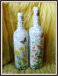 Resultado de imagen para decoupage em garrafas
