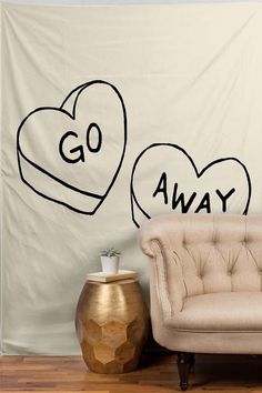 Dress up your dorm while simultaneously telling the world that you need your alone time. Go Away Tapestry, $69 (for 20% off all tapestries, use code 17VDAY at checkout), Dormify