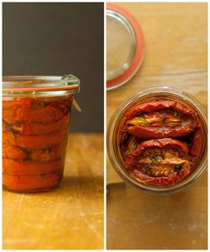 how to preserve oven dehydrated tomatoes and peaches from @Aimee Lemondée Gillespie | Simple Bites on simplebites.net