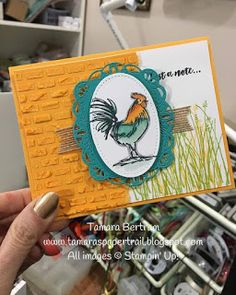 and other stuff Home To Roost, Rooster Art, Daylight Savings Time, Paper Trail, Bird Cards, Rainbow Bridge, Paper Pumpkin, Over The Rainbow, Happy Sunday
