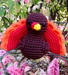 Gobble Gobble Turkey Amigurumi - This Gobble Gobble Turkey Amigurumi will make the perfect centerpiece on your table for Thanksgiving. It is so adorable the kids might even want to play with it any time of year.