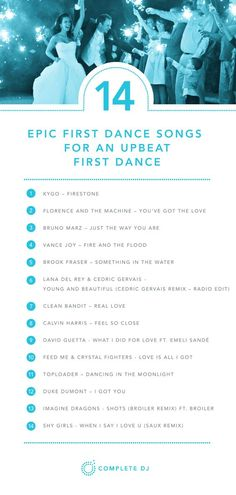 Picking the first dance song for your Wedding can be a tough one! A slightly more upbeat first dance song is a great way to make it fun and get everyone in the mood to dance!