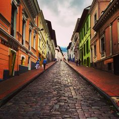 Walking in the streets of Quito