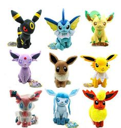 New Large 9pcs Pokemon Evolution of Eevee Plush doll Toy Eeveelution Kids Gifts in Baby,Toys for Baby,Plush Baby Toys | eBay
