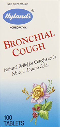 Hylands Bronchial Cough Relief Tablets Natural Homeopathic Relief of Coughs Due to Colds 100 Count Pack of 3 *** Check out this great product.