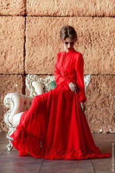 Maxi dress / Платья ручной работы. платье прозрачное. Александра. Ярмарка Мастеров. Шифон, солнце, платье в пол