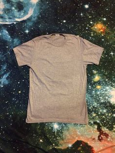Vintage Plain Gray Soft Hanes Brand T-Shirt by VintageVanShop on Etsy