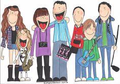 Custom family doodle | Flickr - Photo Sharing!