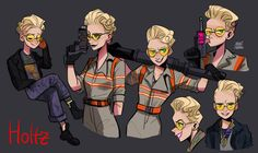 Pinup Arena • jelly-puffer: HOLTZ  So what if you think the new Ghostbusters movie is bad, I really like this character