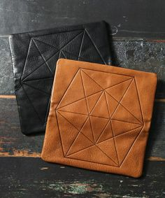 Embossed leather goods