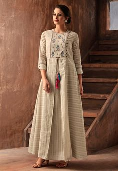 Shop Jacket Kurtis Online is part of Indian kurti designs - Shop Jacket Kurtis Online with the best price Our fashion magazine helps you get the stylish look for Parties and Casual occasion Silk Kurti Designs, Kurta Designs Women, Kurti Designs Party Wear, Blouse Designs, Indian Kurtis Designs, Long Kurta Designs, Latest Kurti Designs, Kurtis Indian, Indian Designer Outfits