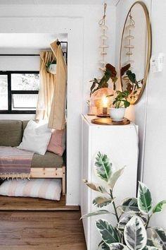 Living Room Modern, Living Room Decor, Rv Living, Tiny Living, Simple Living, Rv Interior, Interior Design, Old Bed Frames, Home Decor Hacks