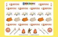 Camping Planner and Scrapbook Stickers