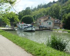 Canal between Moissac and Boudou, France