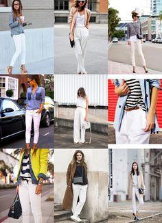 Plenty of ideas to refresh my jean blanc!
