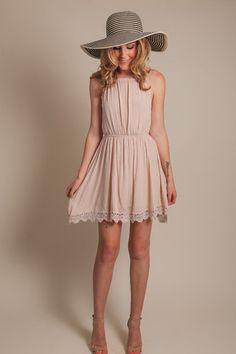 Nellie Taupe Gauze Dress