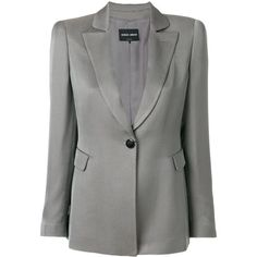 Giorgio Armani jacquard blazer (39.175 ARS) ❤ liked on Polyvore featuring outerwear, jackets, blazers, grey, grey blazer, giorgio armani blazer, giorgio armani jacket, giorgio armani and jacquard blazer
