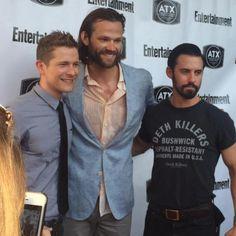 GG Reunion ATX 2015 | Matt Czuchry (Logan), Jared Padalecki (Dean) and Milo Ventimiglia (Jess)