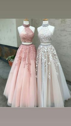 Custom Prom Dress, Prom Dress Long, Prom Dress, Prom Dress Two Piece, Evening Dress Lace Prom Dresses 2019 Prom Dresses Two Piece, Formal Dresses For Teens, A Line Prom Dresses, Grad Dresses, Beautiful Prom Dresses, Evening Dresses, Quinceanera Dresses, Party Dresses, Prom Two Piece