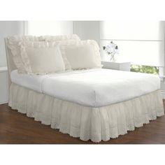 $19.88 - Levinsohn Eyelet Ruffled Bedding Bed Skirt - Walmart.com