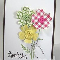 Simply Pressed Clay Buttons Card by noemi