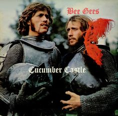 CUCUMBER CASTLE 1970 movie. The Bee Gees star in this artsy, fantasy film. The plot concerns two heirs, Prince Frederick (Barry Gibb) and his brother Prince Marmaduke (Maurice Gibb), and their dying King/father (Frankie Howerd). On his deathbed, the King decrees that his kingdom shall be divided into two halves, the Kingdom of Cucumber and the Kingdom of Jelly.   On DVD.