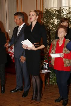 Prince Albert and Princess Charlene attends Parcels Distribution at Red Cross Monaco as part of their National Day celebrations, 2015
