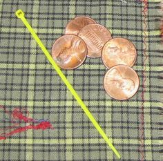 Found MONEY in the Street: Found 5 Pennies and Tiny Zip Tie #cableties #foundmoney #blog #findingmoney