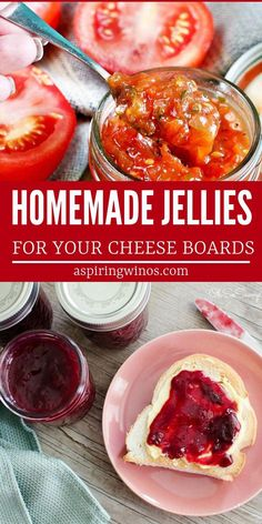 Most Delicious Jelly Recipes For Your Cheese Board Level up your cheese boards with one of these homemade jelly recipes or jam recipes. Ginger Jelly Recipe, Wild Plum Jelly Recipe, Charcuterie Recipes, Plum Jam Recipes, Jelly Recipes, Drink Recipes, Wine Jelly, Canning Recipes, Stuffed Peppers