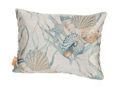 Coastal Sea Shells Indoor/Outdoor Boudoir/Breakfast Pillow