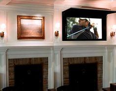 Fancy - Hidden Flat Screen Panel by TV CoverUps  Really great idea!!