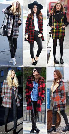 6x Tartan Coats & Jackets