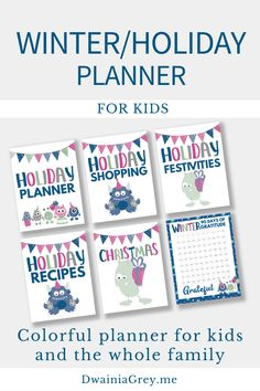 Get Your Winter and Holiday Planner Bundle $6.99 on Etsy. Plan your holidays with the family. #holidayplanner