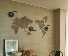 Please click here to time zone clocks x3 times pinterest world map clock diy decoration kit gumiabroncs Images