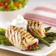 Stuffed Chicken Breasts - Cottage Cheese, Spinach, Peppadews......