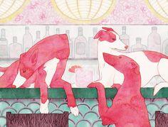 Kelly Airo Illustration   Greyhound kellyairo.com #illustration #art