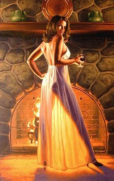Greg Hildebrandt pinup artist (b.1939). Throughout his career, Greg would work together and separately, and together again, with his twin brother Tim.