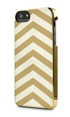 Gold Chevron Stripes Snap Case for iPhone 4/4S/5