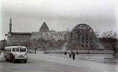 Konya/Alaeddin Tepesi üzerinde bulunan 2. Kılıçaslan Köşkü çatı koruma inşaatı.