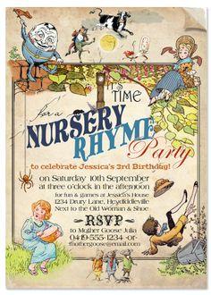 nursery rhyme invitation - Google Search