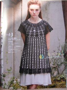 Little black dress crochet pattern