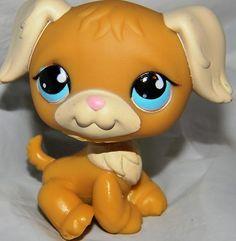 LPS LITTLEST PET SHOP DOG GOLDEN RETRIEVER W/ BLUE EYES #951 Rare HTF