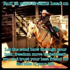Trust your best friend. Aka my horse . Rodeo Quotes, Equine Quotes, Equestrian Quotes, Barrel Racing Quotes, Barrel Racing Horses, Barrel Horse, Cute Horses, Horse Love, Beautiful Horses
