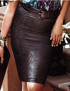 Show off the curves that every girl craves in our sexy python print pencil skirt. Figure-hugging style moves with you with a hint of spandex for comfort and the perfect fit. Features an invisible back zipper and vent for ease of movement. Fully lined. lanebryant.com