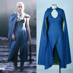 Game of Thrones Daenerys Targaryen Cosplay Costume Blue Dress #Handmade #CompleteCostume