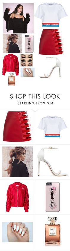 """Girls night out with Tessa"" by joelene-garcia ❤ liked on Polyvore featuring Opening Ceremony, Stuart Weitzman, Chiara Ferragni and Chanel"