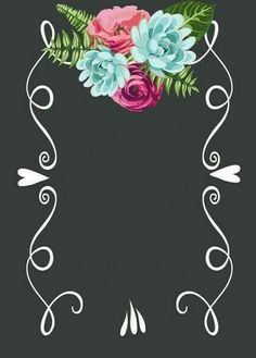for the border of a picture frame Cute Wallpapers, Wallpaper Backgrounds, Iphone Wallpaper, Photo Backgrounds, Deco Floral, Design Poster, Borders And Frames, Chalkboard Art, Chalkboard Template